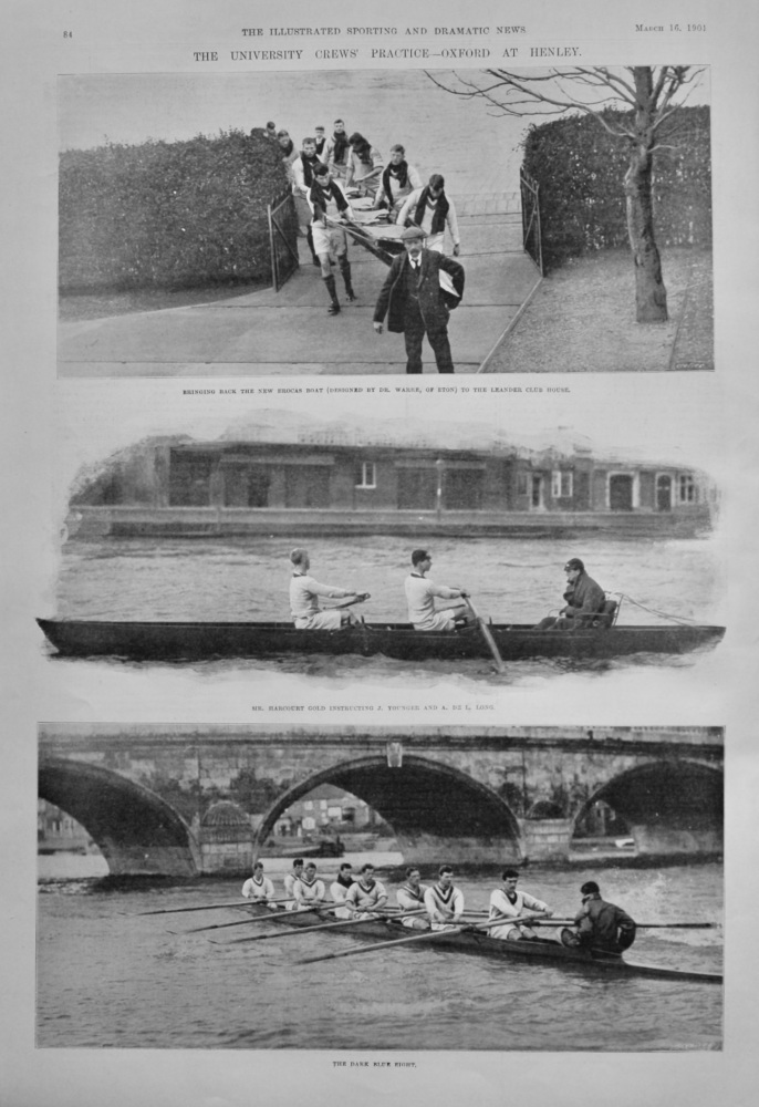 The University Crews' Practice-Oxford at Henley.  1901.