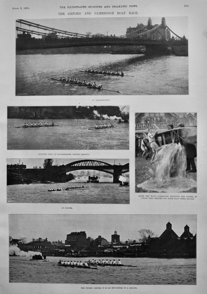 The Oxford and Cambridge Boat Race.  1901.