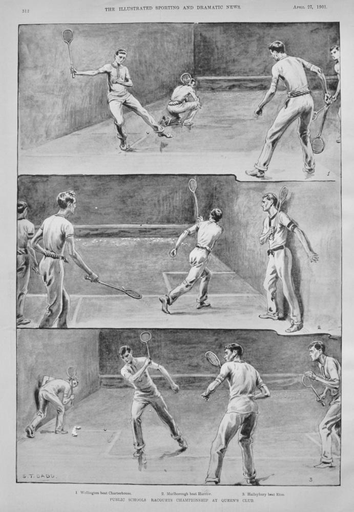 Public Schools Racquets Championship at Queen's Club. 1901.