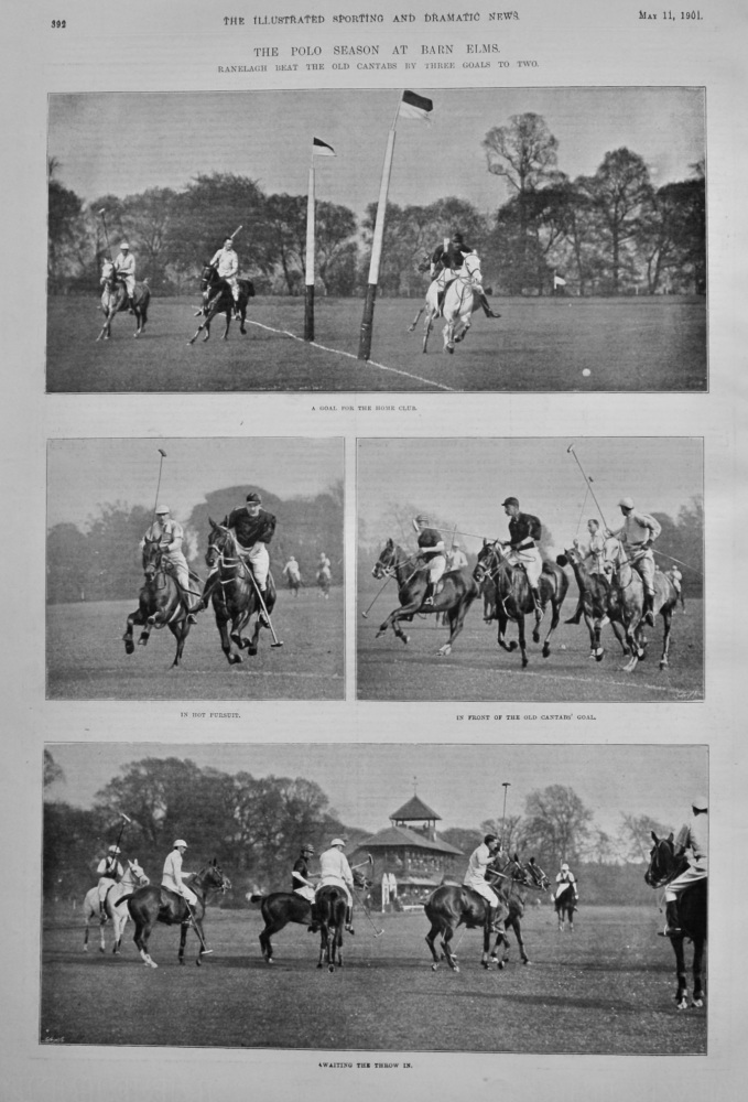 The Polo Season at Barn Elms.  1901.