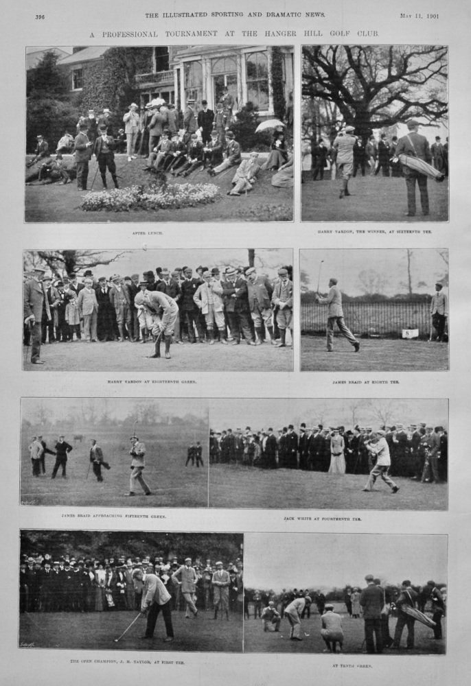 A Professional Tournament at the Hanger Hill Golf Club.  1901.