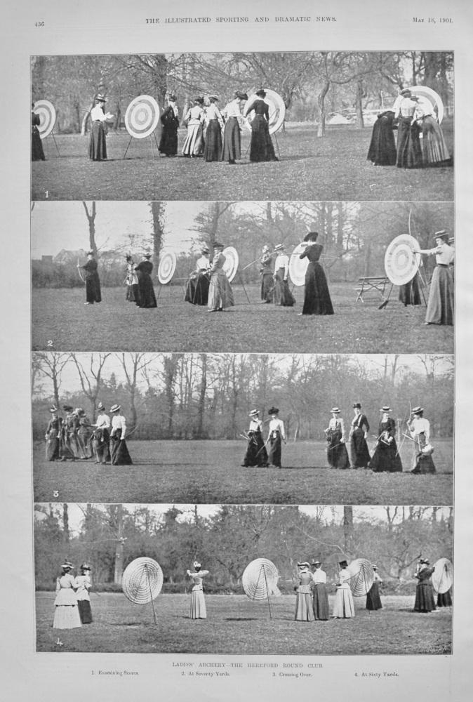 Ladies' Archery- The Hereford Round Club.  1901.