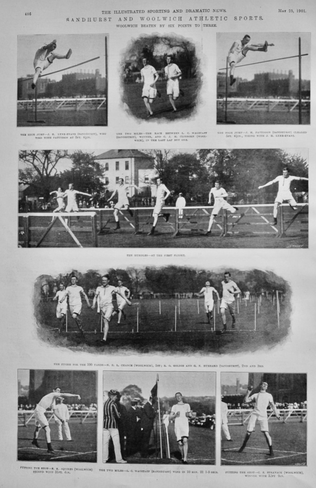 Sandhurst and Woolwich Athletic Sports.  1901.