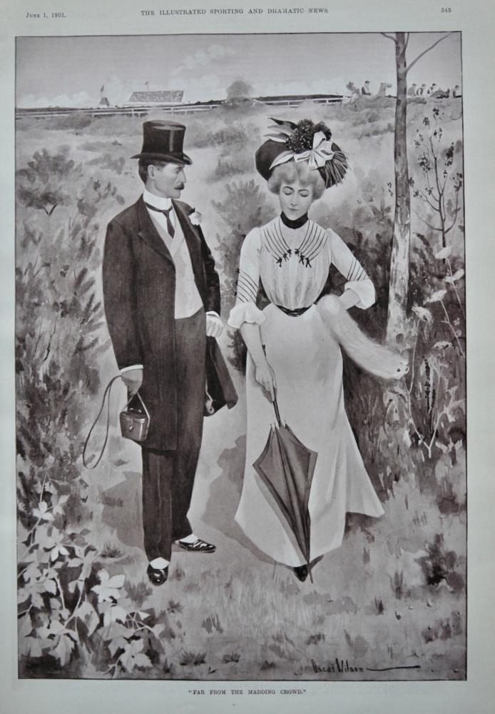 """""""Far From The Madding Crowd.""""  1901."""