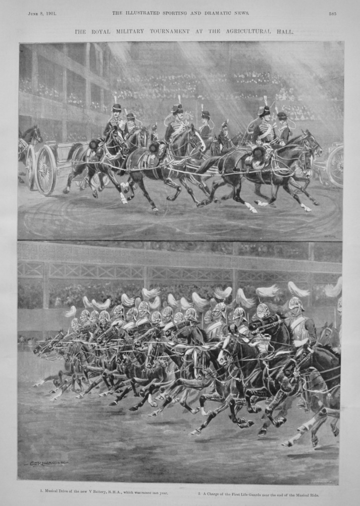 The Royal Military Tournament at the Agricultural Hall.  1901.
