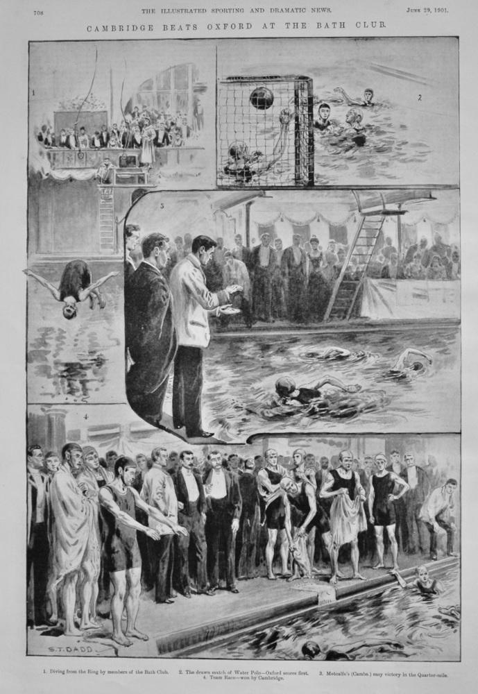 Cambridge Beats Oxford at the Bath Club.  1901.