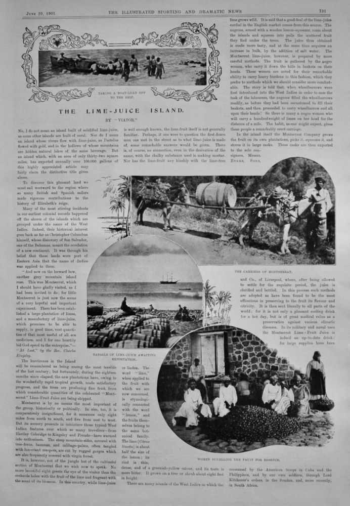 The Lime-Juice Island.  (Montserrat). 1901.