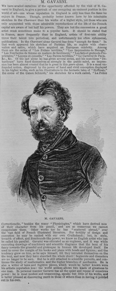 M. Gavarni.  1848.