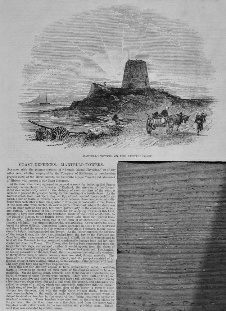 Coast Defences.- Martello Towers.  1848.