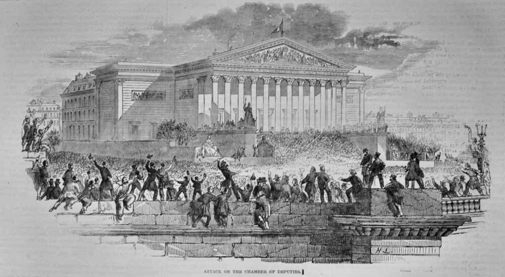 Attack on the Chamber of Deputies. (French Revolution)  1848.