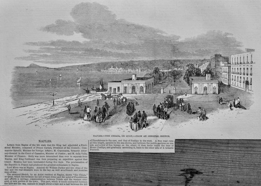 Naples.- The Chiaja, or Quay.  1848.