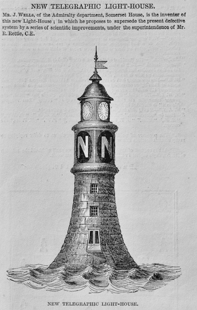 New Telegraphic Light-House.  1848.