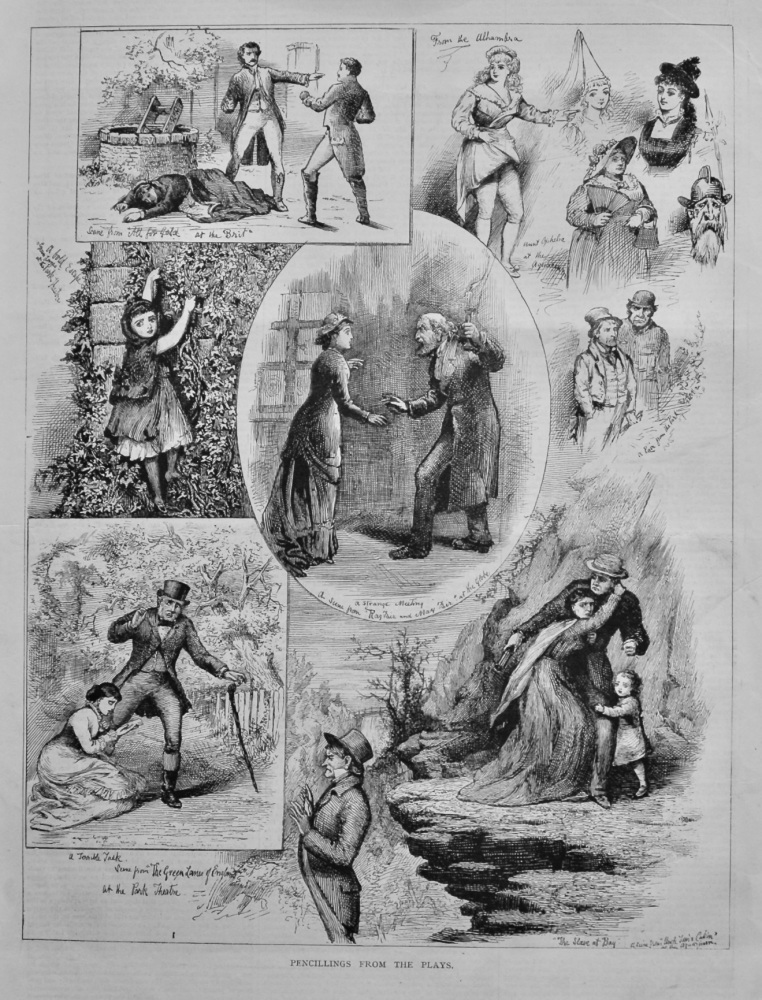 Pencillings from the Plays.  1878.