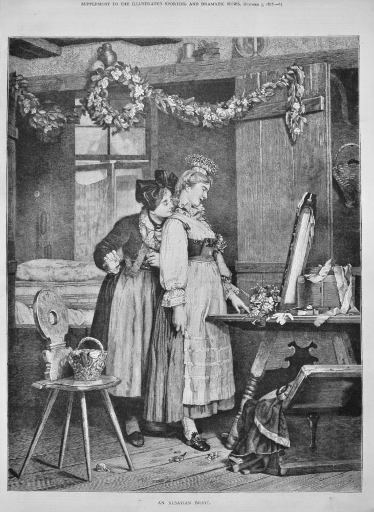 """An Alsatian Bride.""  1878."