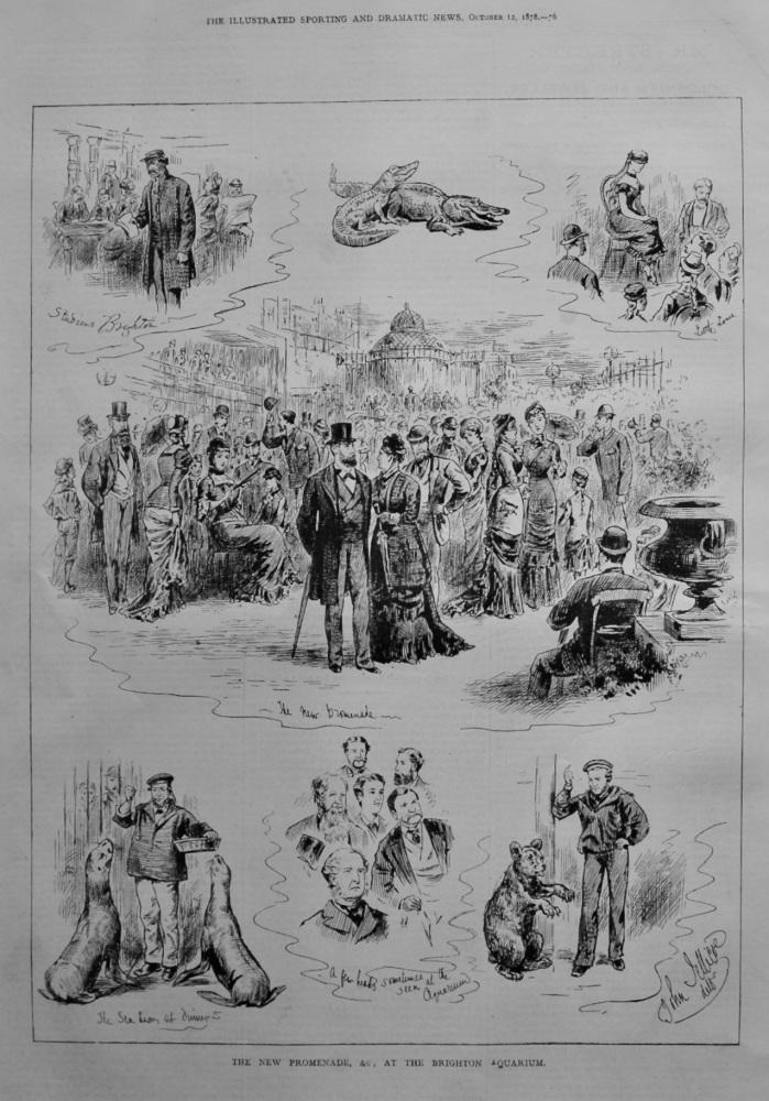 The New Promenade, &c., at the Brighton Aquarium.  1878.