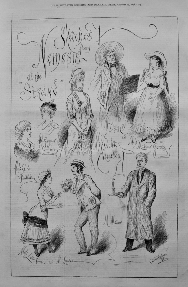 Sketches from Nemesis at the Strand.  1878.