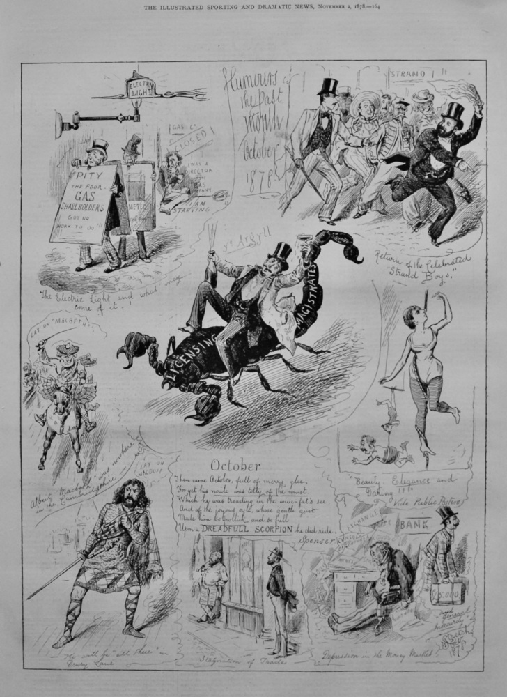 Humours of the Past Month October 1878.