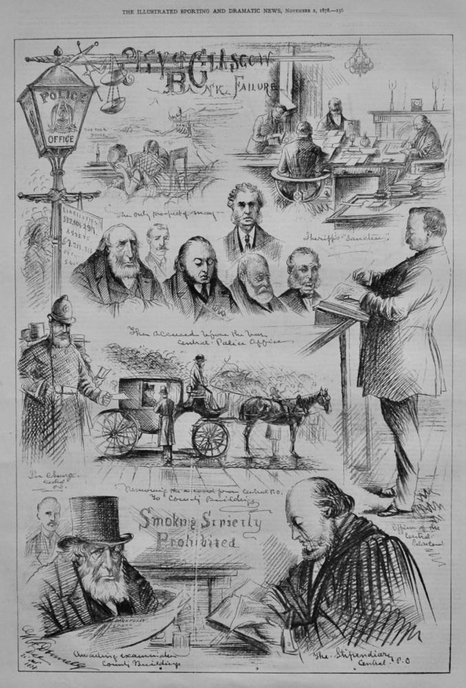 City of Glasgow Bank Failure.  1878.