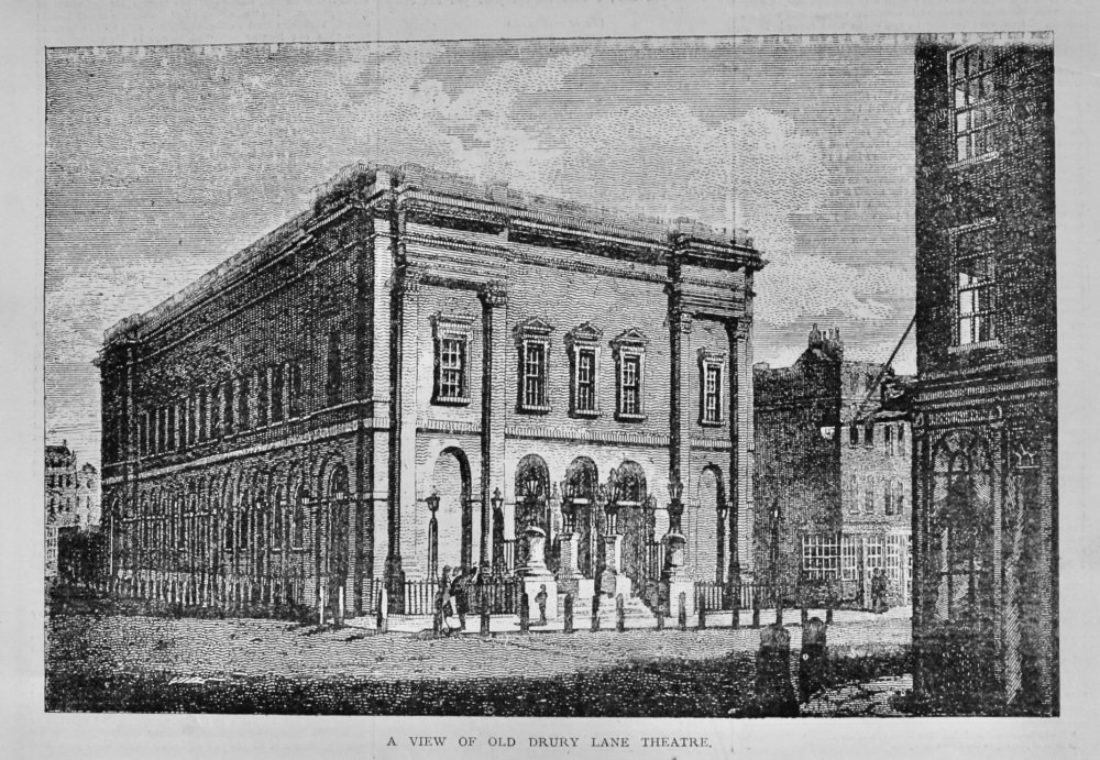 A View of Old Drury Lane Theatre.  1878.