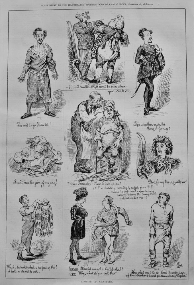 Agonies of Amateurs.  1878.