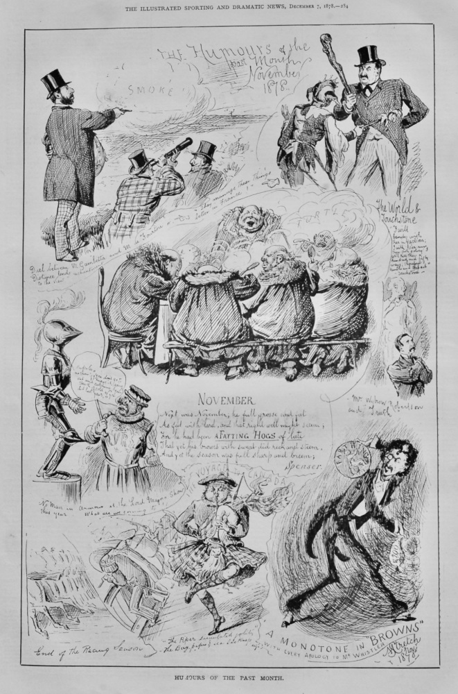 Humours of the Past Month. November 1878.