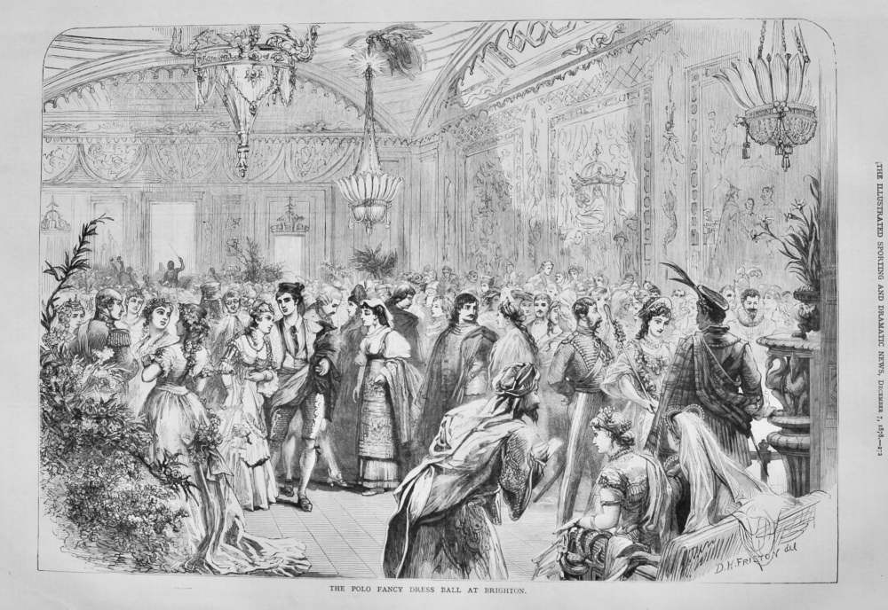 The Polo Fancy Dress Ball at Brighton.  1878.