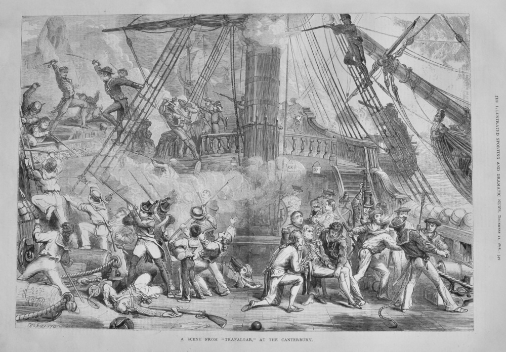 "Last Scene from ""Trafalgar,"" at the Canterbury.  1878."