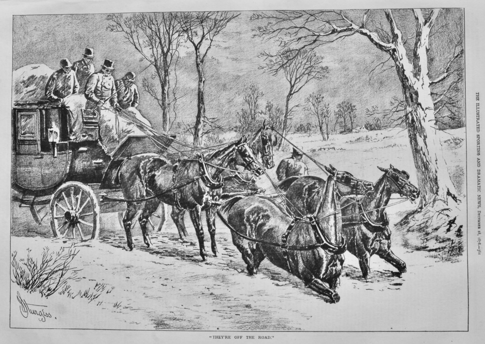 """""""They're Off the Road."""" (Coaching)   1878."""