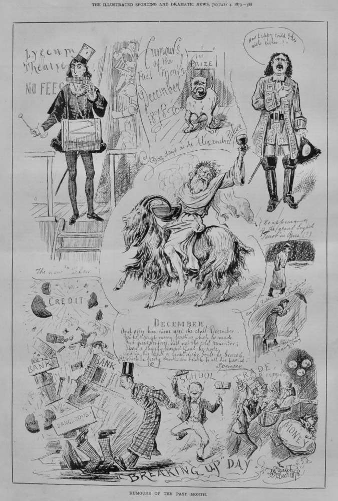 Humours of the Past Month December 1878.