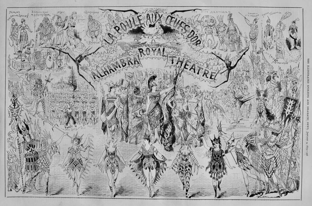 La Poule Aux Oeufs D'or.  Royal Alhambra Theatre. 1879.