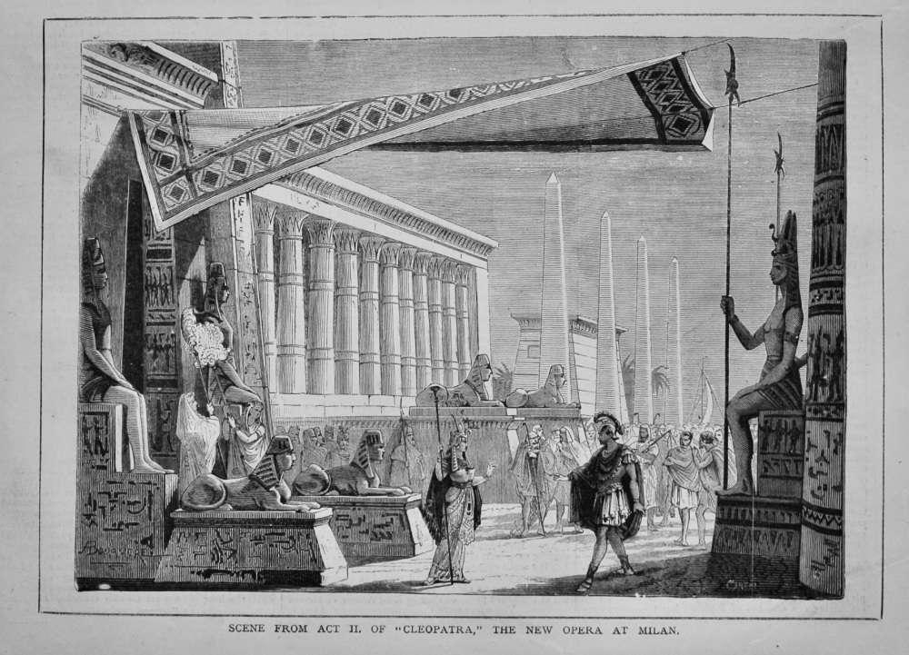 "Scene from Act II. of ""Cleopatra,"" the New Opera at Milan.  1879."