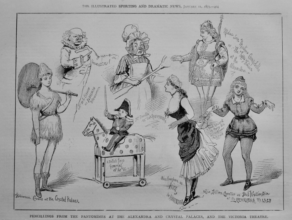 Pencillings from the Pantomimes at the Alexandra and Crystal Palaces, and the Victoria Theatre.  1879.