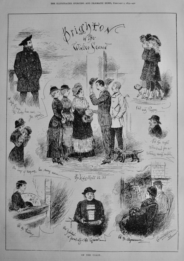 On the Coast : Brighton in the Winter Season. 1879.