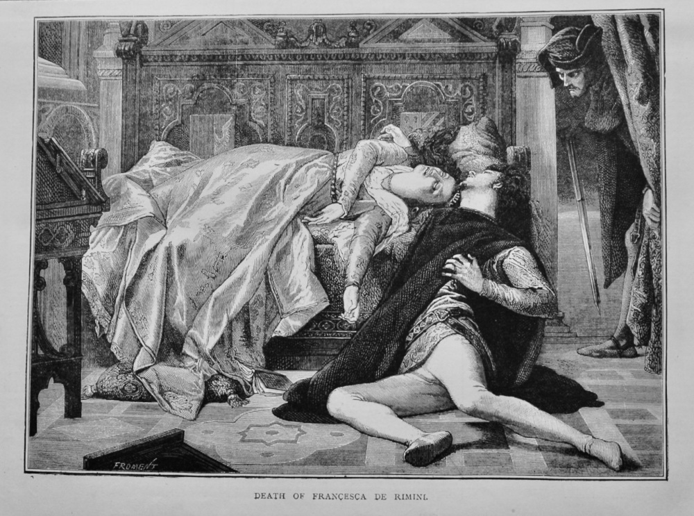 Death of Francesca De Rimini.  1879.