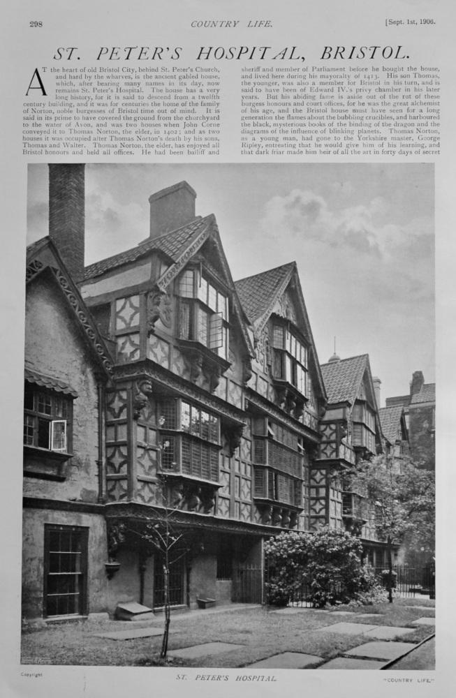 St. Peter's Hospital, Bristol.  1906.