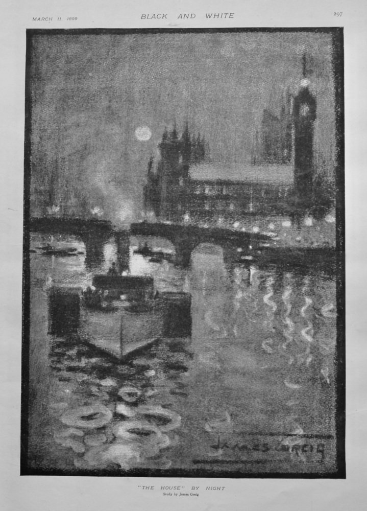 """The House"" by Night . (A Study by the Artist James Greig.)  1899."