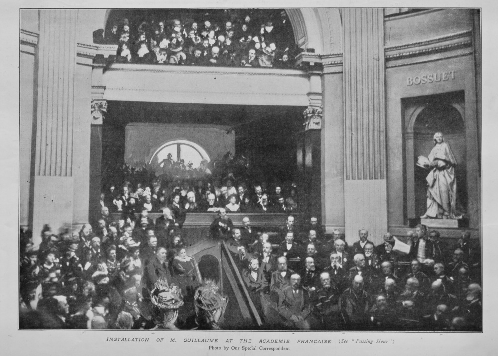 Installation of M. Guillaume at the Academie Francaise.  1899.