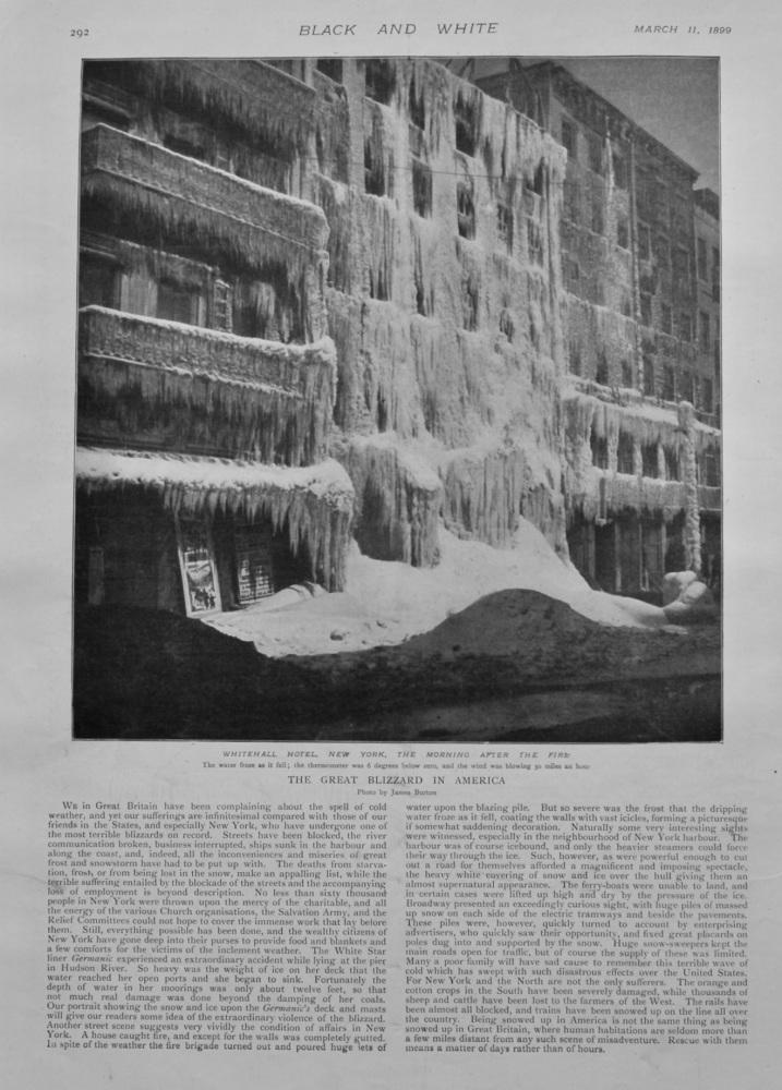 The Great Blizzard in America.  1899.
