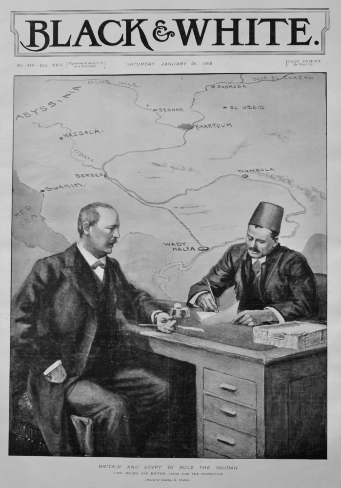 Britain and Egypt to Rule the Sudan.  1899.
