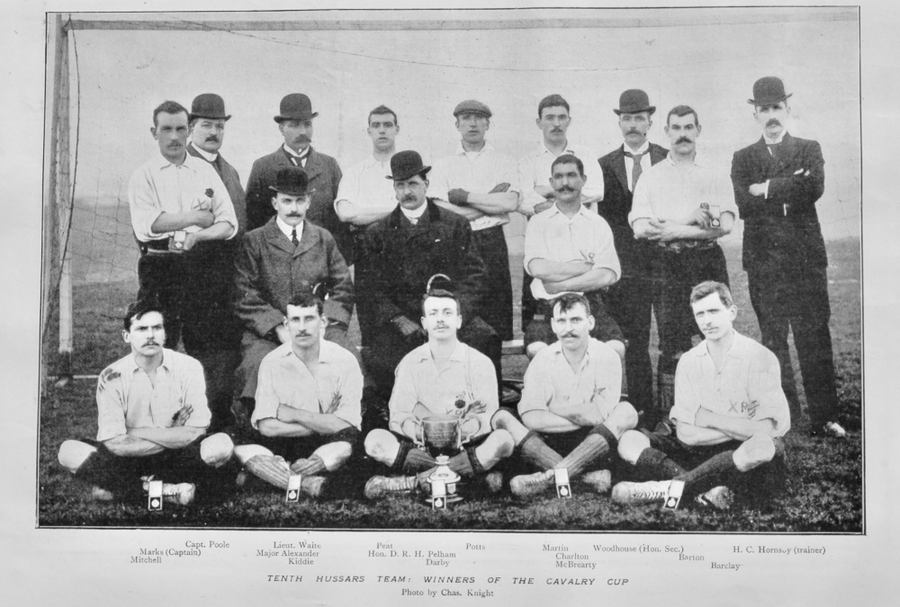 Tenth Hussars Team :  Winners of the Cavalry Cup.  1899.