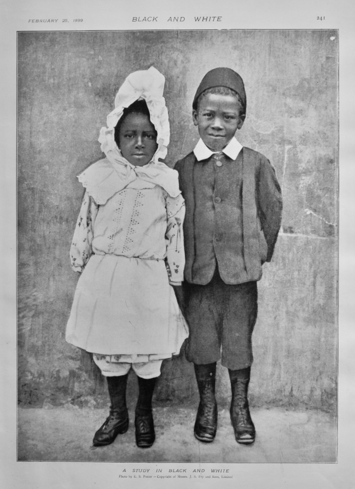A Study in Black and White.  1899.