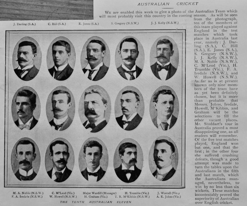 Australian Cricket.  1899.