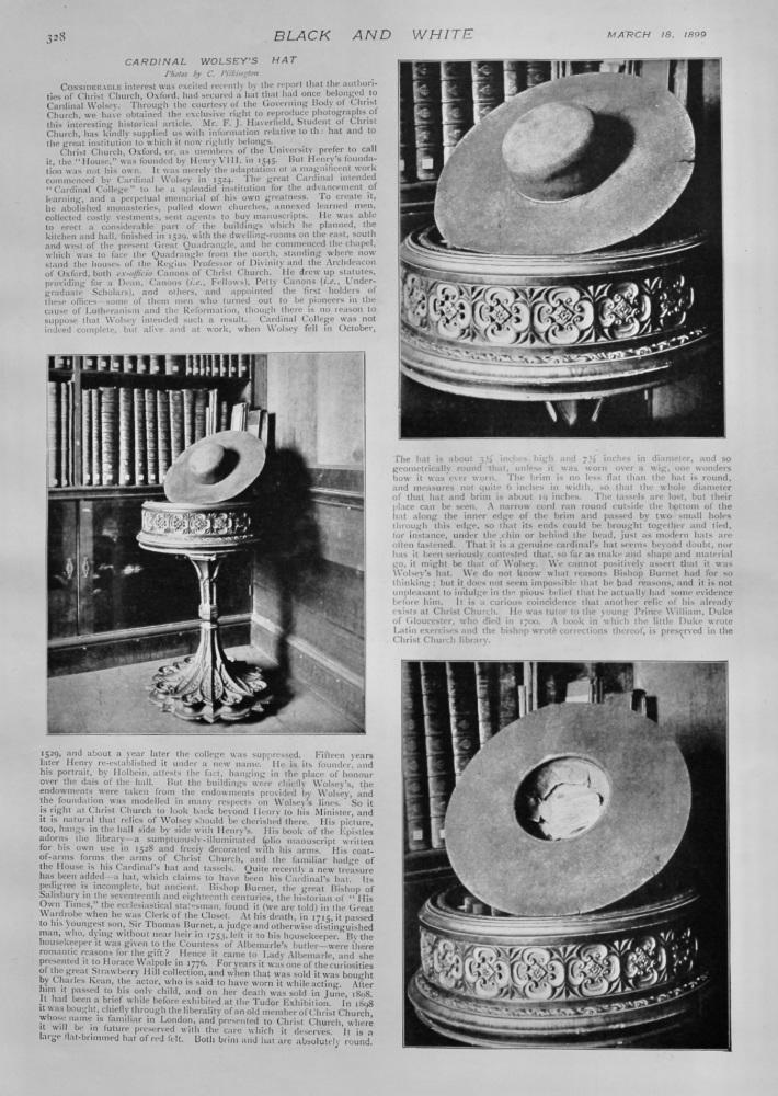 Cardinal Wolsey's Hat.  1899.