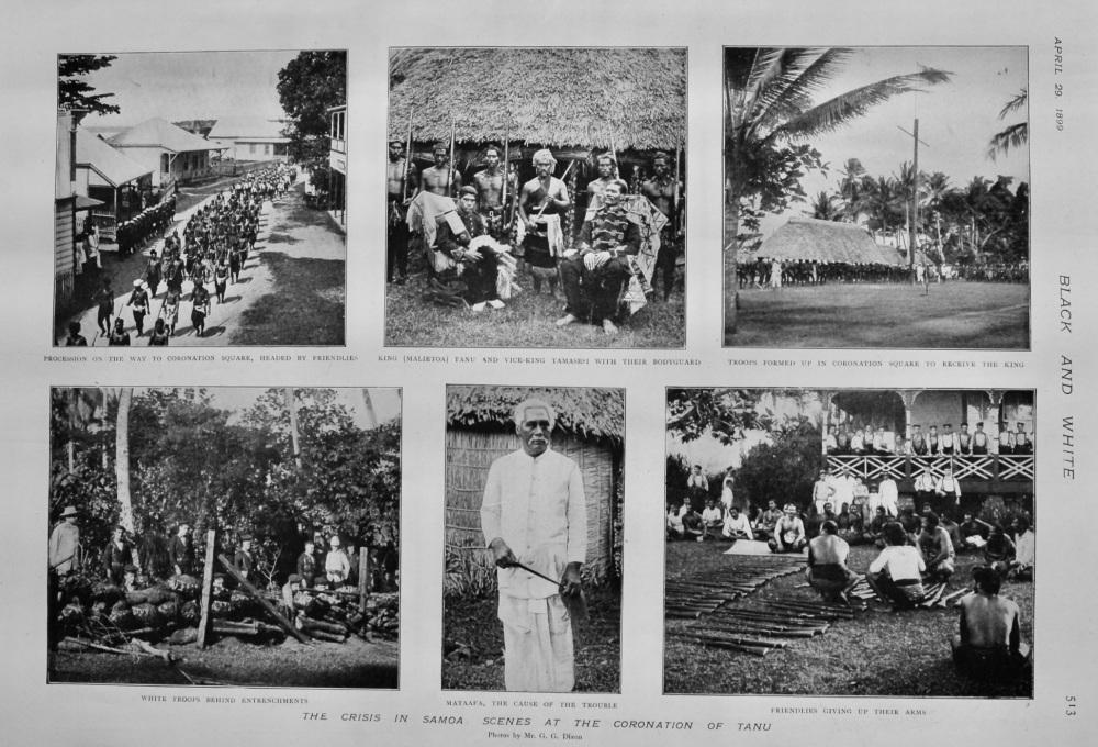 The Crisis in Samoa :  Scenes at the Coronation of Tanu.  1899.