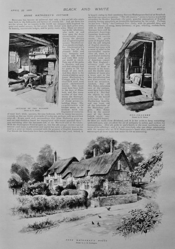 Anne Hathaway's Cottage.  1899.