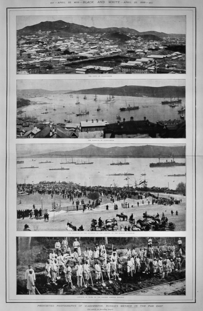 Prohibited Photographs of Vladivostok, Russia's Menace in the Far East.  1899.