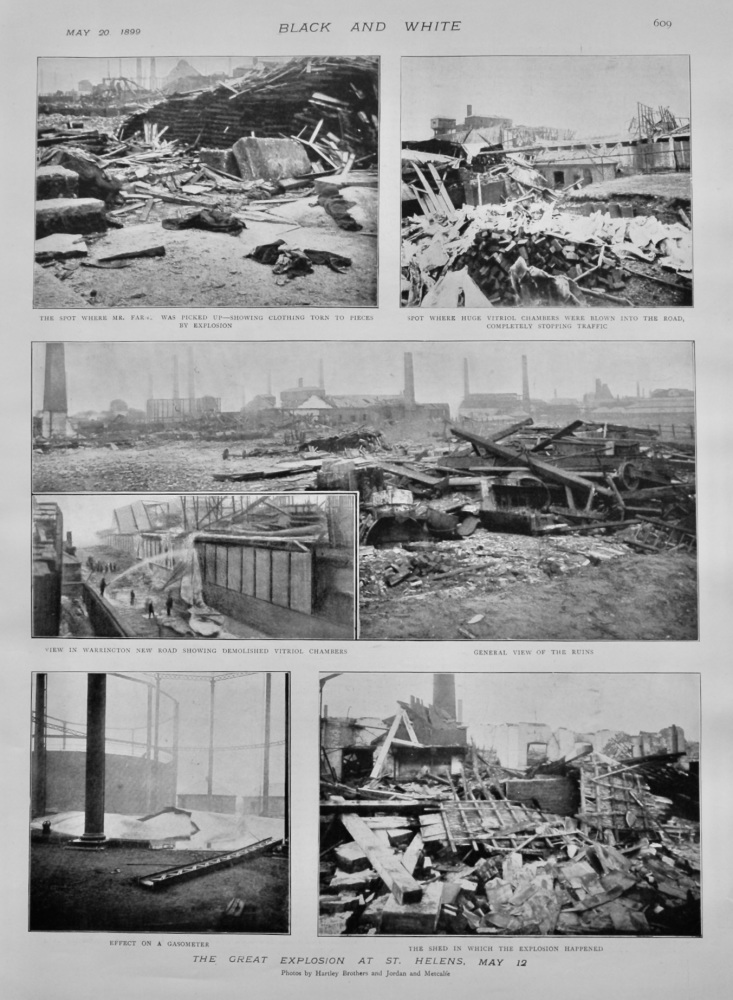 The Great Explosion at St. Helens, May 12th, 1899,  (Kurtz Chemical Factory).