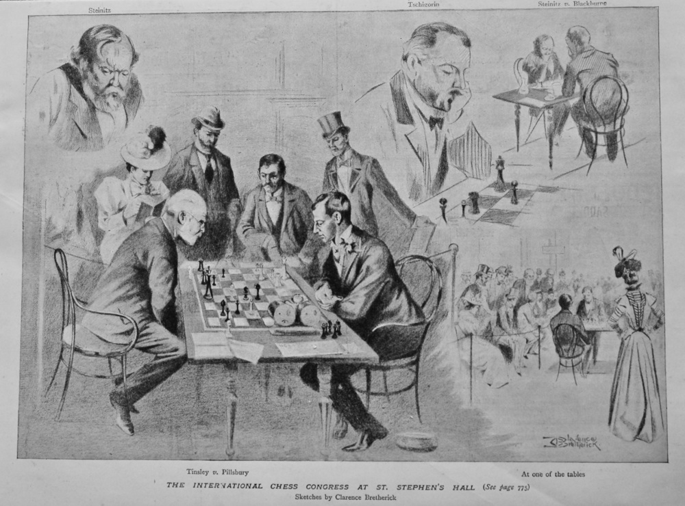 The International Chess Congress at St. Stephen's Hall 1899.