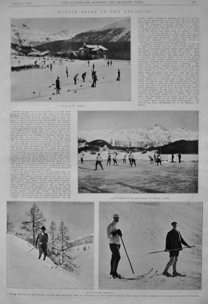 Winter Sport in the Engadine.  1903.