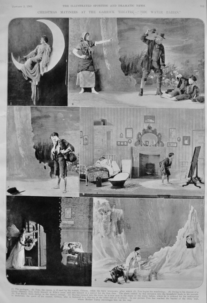 """Christmas Matinees at the Garrick Theatre- """"The Water Babies."""" a902."""